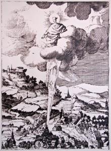 Místo narození svatého Jana Nepomuckého - rytina K. Škréta